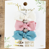 3 Aiyanna Medium Wisp Clip Boutique Bows - Spring Toddler Gift Set - Baby Wisp
