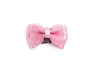 Mini Latch Wisp Clip Tuxedo Fancy Hair Bow - Baby Wisp