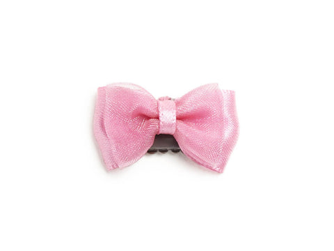 Mini Latch Tuxedo Fancy Hair Bow - Baby Wisp - bubblegum