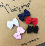 Mini Latch Tuxedo Grosgrain Bow Collection - Basic Colours Baby Bows - Baby Wisp