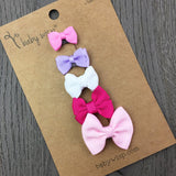 Mini Bows Baby Girl Hair Bow Collection - Baby Wisp