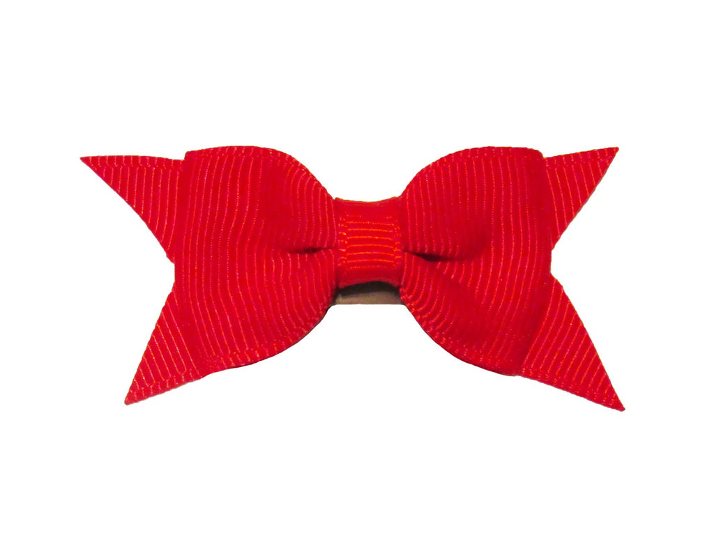Mini Latch Cadeau Bow - Red - Baby Wisp