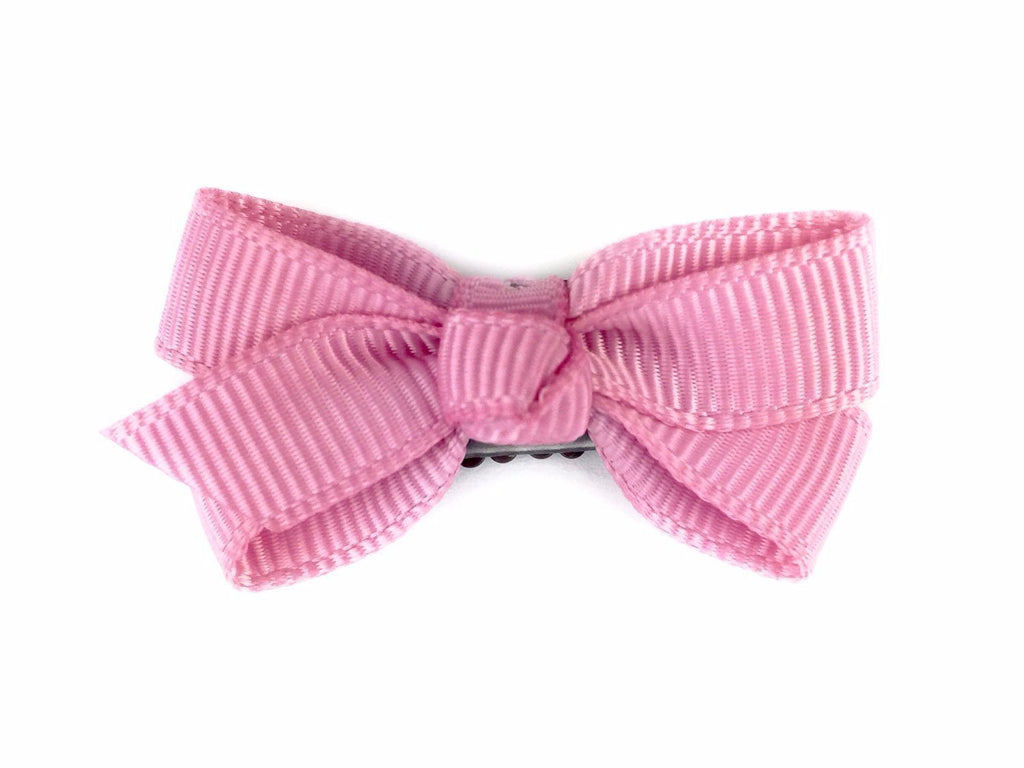 Mini Latch Wisp Clip - Chelsea Boutique Bow - Wildrose Blush - Baby Wisp
