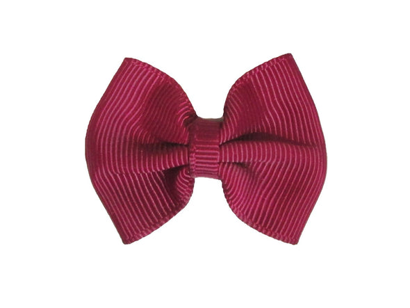 Mini Latch Classic Bow - Burgundy - Baby Wisp