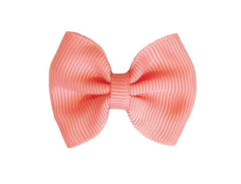 Mini Latch Classic Bow - Light Coral - Baby Wisp
