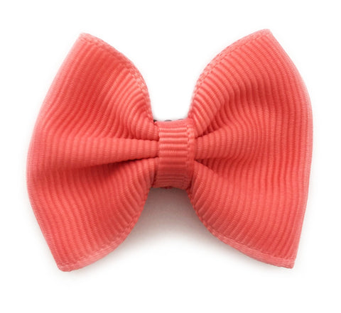 Mini Latch Classic Bow - Deep Coral - Baby Wisp