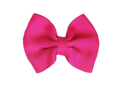 Mini Latch Classic Bow - Fuchsia - Baby Wisp