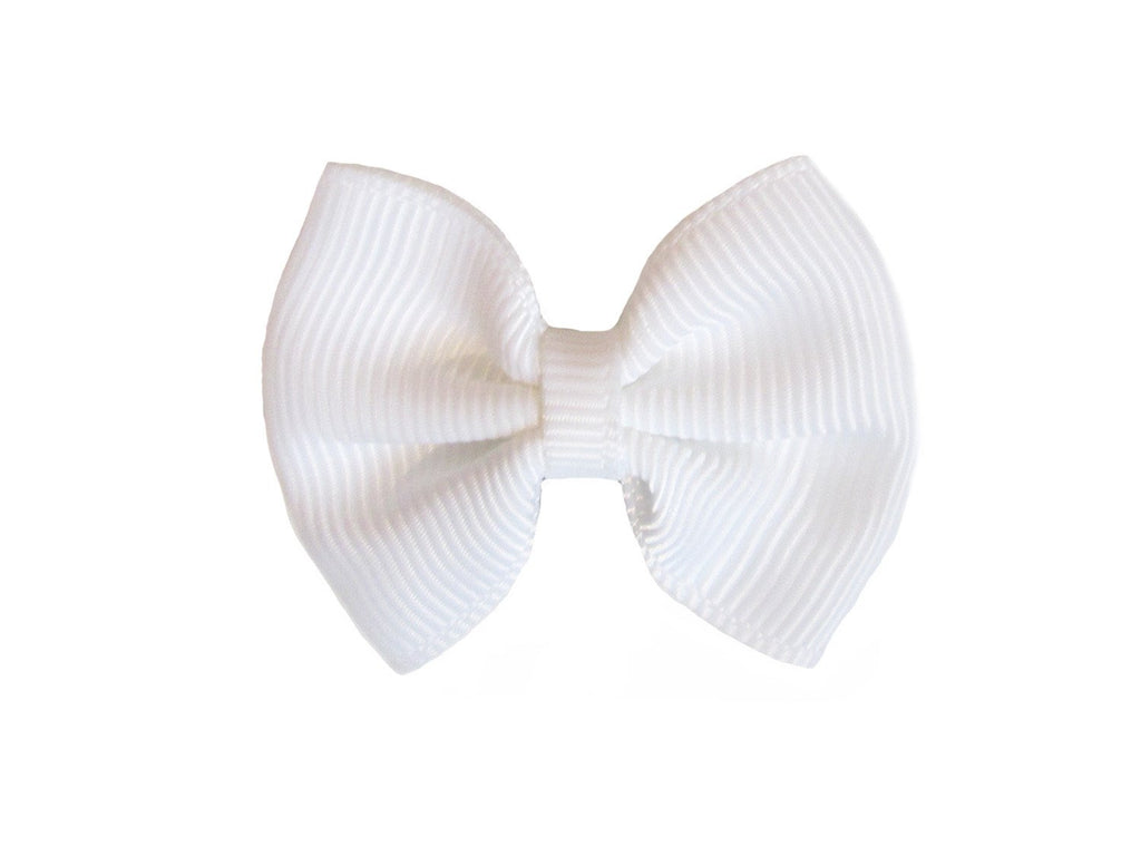Mini Latch Classic Bow - White - Baby Wisp