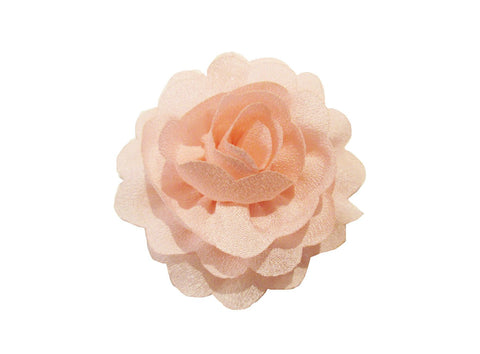 Mini Latch Dahlia flower clip for babies - Baby Wisp - light-pink