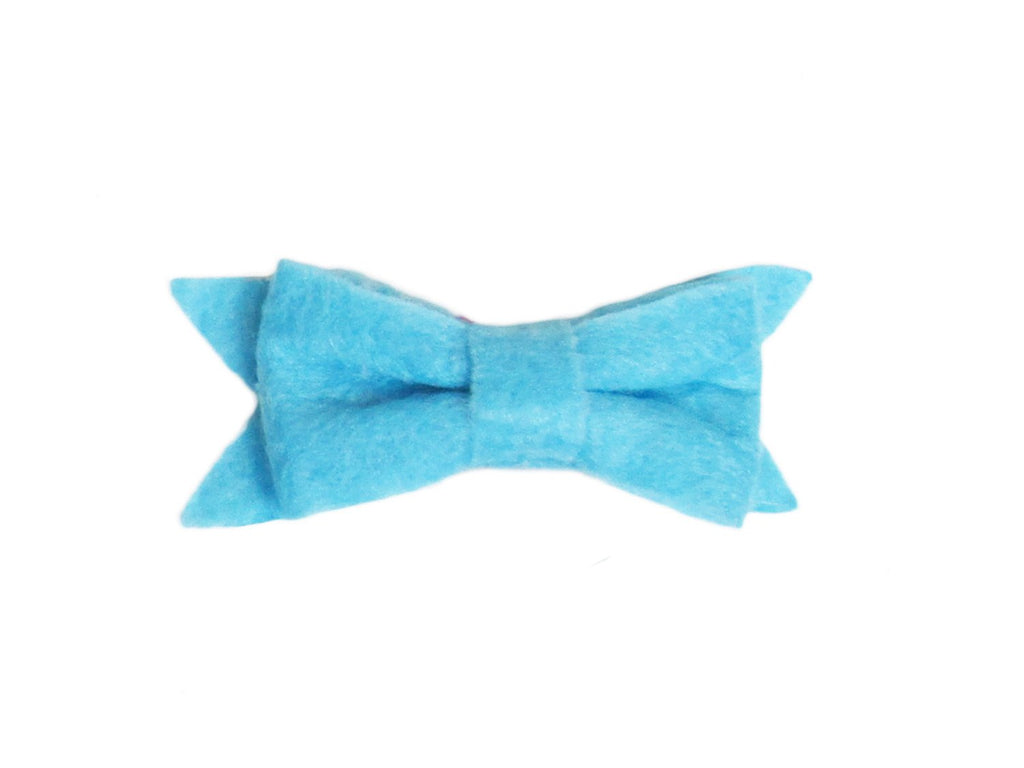 Small Snap Felt Hair Bow - Baby Wisp - light-blue