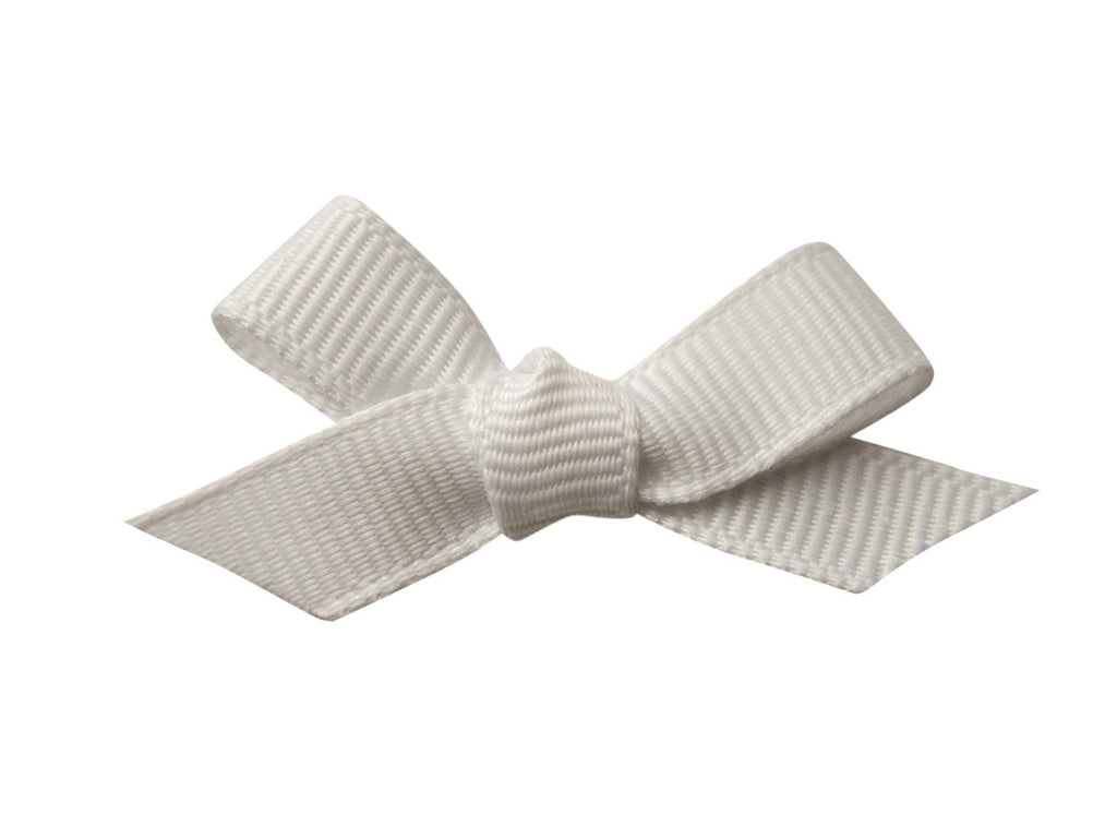 Hand Tied Bow - Mini Latch White - Baby Wisp