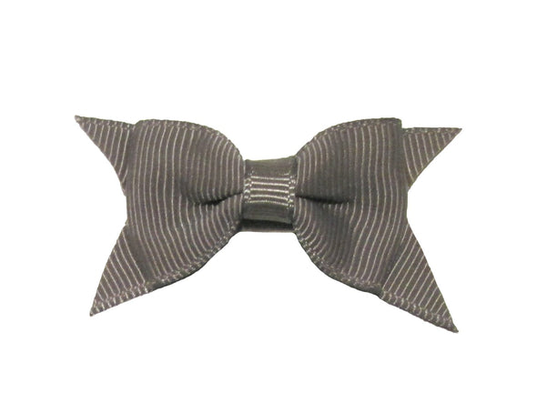 Mini Latch Cadeau Bow - Metal Grey - Baby Wisp