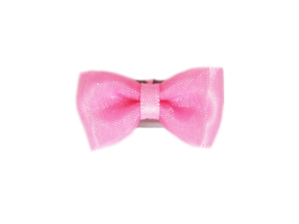 Mini Latch Tuxedo Fancy Hair Bow - Bubblegum - Baby Wisp