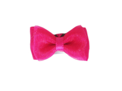 Mini Latch Tuxedo Fancy Hair Bow - Fuchsia - Baby Wisp