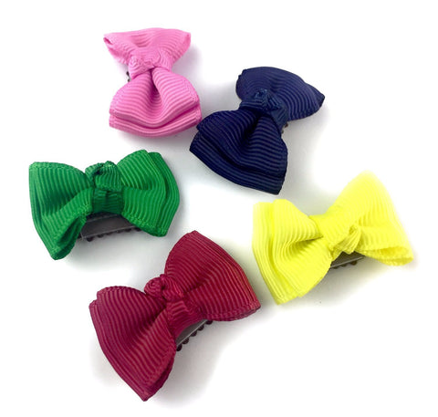 Mini Latch Wisp Clips - Trendy Twist Bow Collection - Carousel - Baby Wisp
