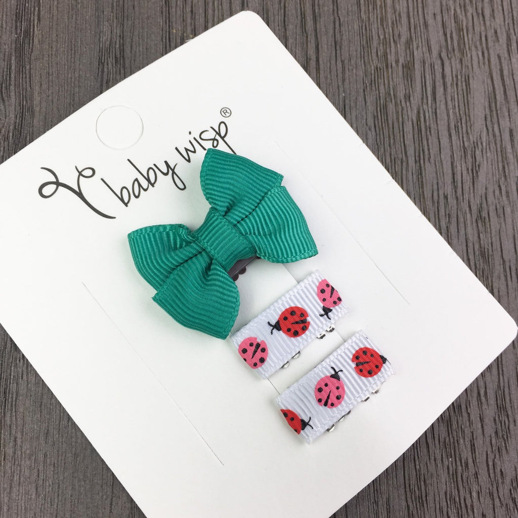 Mini Latch Wisp Clip Bow and Ribbon Clips Gift Set - Baby Wisp