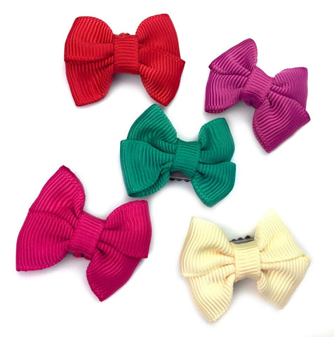 Mini Latch Butterfly Bows Collection - Santa's Helpers