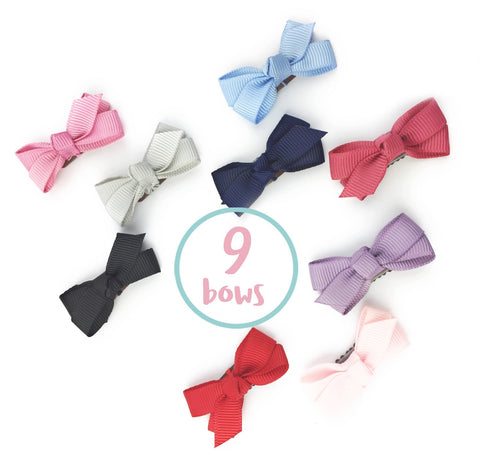 Mini Latch Wisp Clip Chelsea Boutique Bow Collection - Baby Wisp