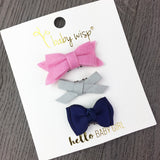 3 Mini Latch Wisp Clip Baby Bows Gift Sets - Baby Wisp