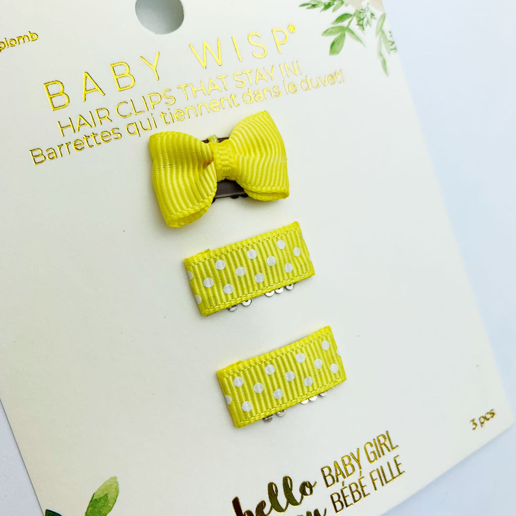 cute tiny bows for baby fine hair polka dot summer accessories