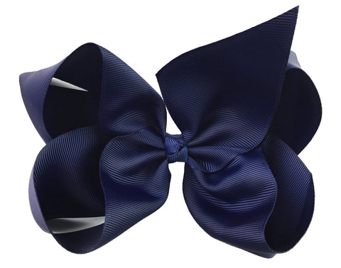 Nicki Bow Pinch Clip - Navy - Baby Wisp