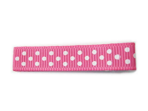 Polka Dots Ribbon Pinch Clip - Baby Wisp