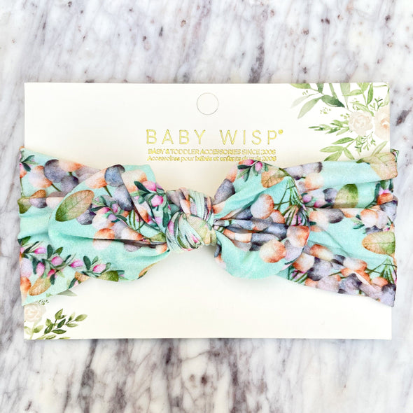 Infant Headwrap Nylon Bow Floral Headband - Island Floral - Baby Wisp