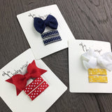 Bow and Ribbon Small Snap Clips - Gift Set for Infants - Baby Wisp