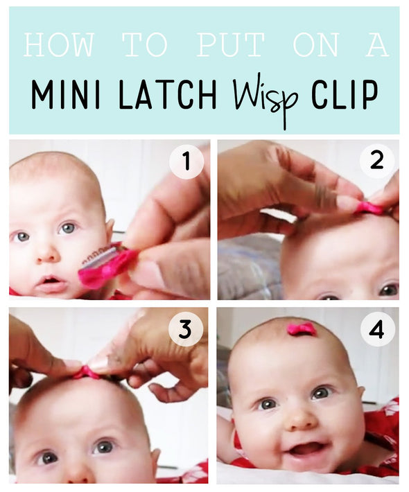 9 Mini Latch Wisp Clips Ultimate Ribbon Bow Sampler and Flower Hair Clip Gift Set - Baby Wisp