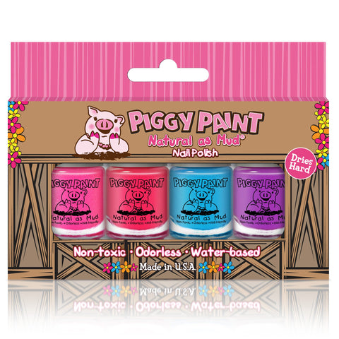 Piggy Paint Nail Polish 4 Pack Box Set