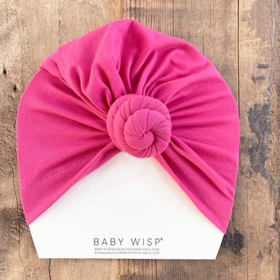 Infant Turban Knot Hat - Fuchsia - Baby Wisp