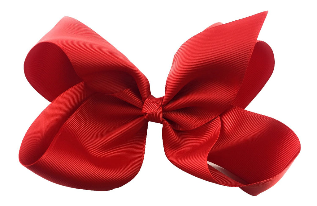 Nicki Bow Pinch Clip - Red
