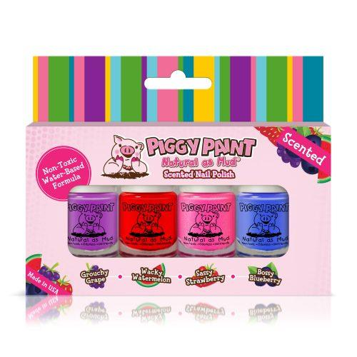 Piggy Paint Scented MINI Nail Polish 4 Pack Box Set - Baby Wisp