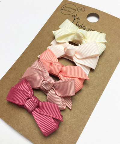 Small Snap Chelsea Boutique Bow Collection - Feelin' Peachy - Baby Wisp