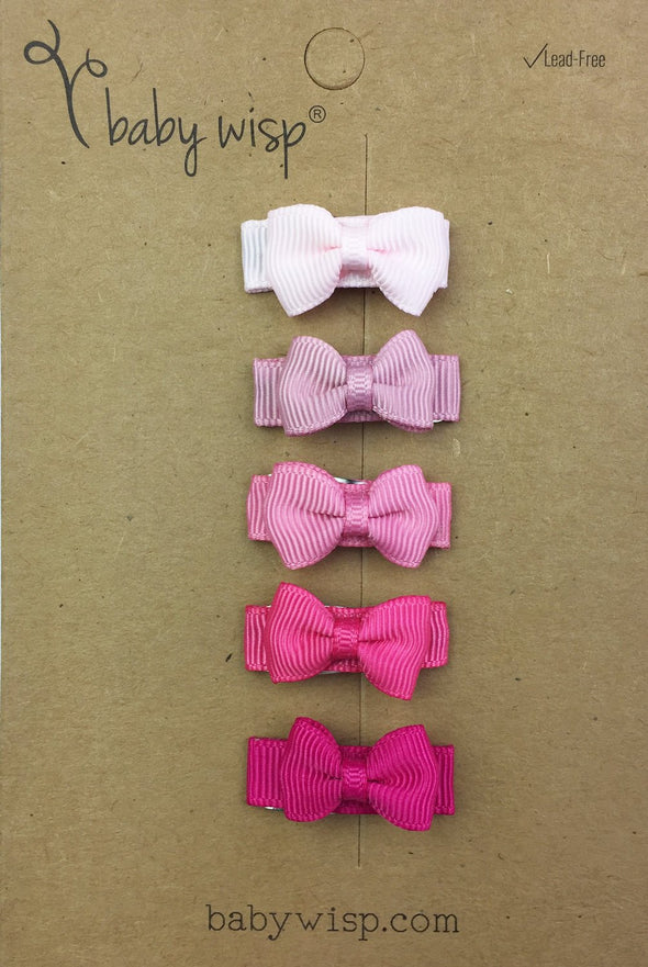Small Snap Tuxedo Grosgrain Hair Bow Collection - Secret Admirer - Baby Wisp