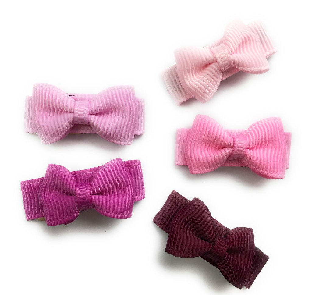 Small Snap Tuxedo Grosgrain Hair Bow Collection - Serenade - Baby Wisp