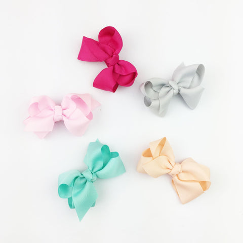 5 Bowtastic Bows Snap Clip Gift Set - Baby Wisp