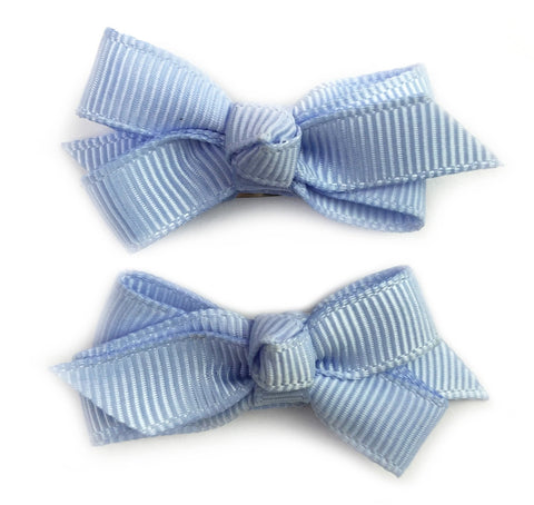 Small Snap Chelsea Boutique Bow - 2 pack - Blue Bell - Baby Wisp