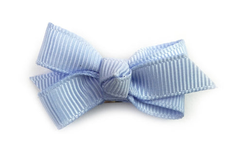 Small Snap Chelsea Boutique Bow - Single Hair Bow - Blue Bell