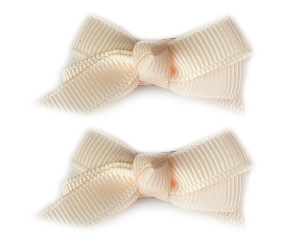 Small Snap Chelsea Boutique Bow - 2 pack - Chantilly - Baby Wisp