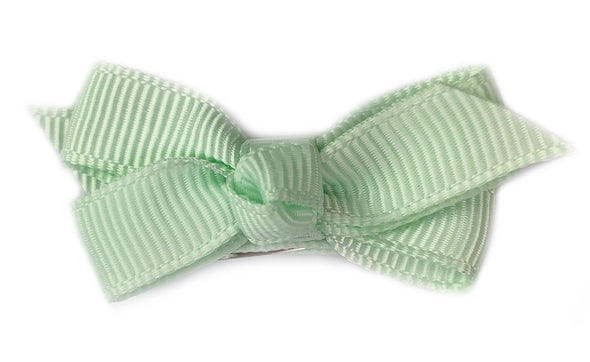 Small Snap Chelsea Boutique Bow - Single Hair Bow - Ice Mint - Baby Wisp