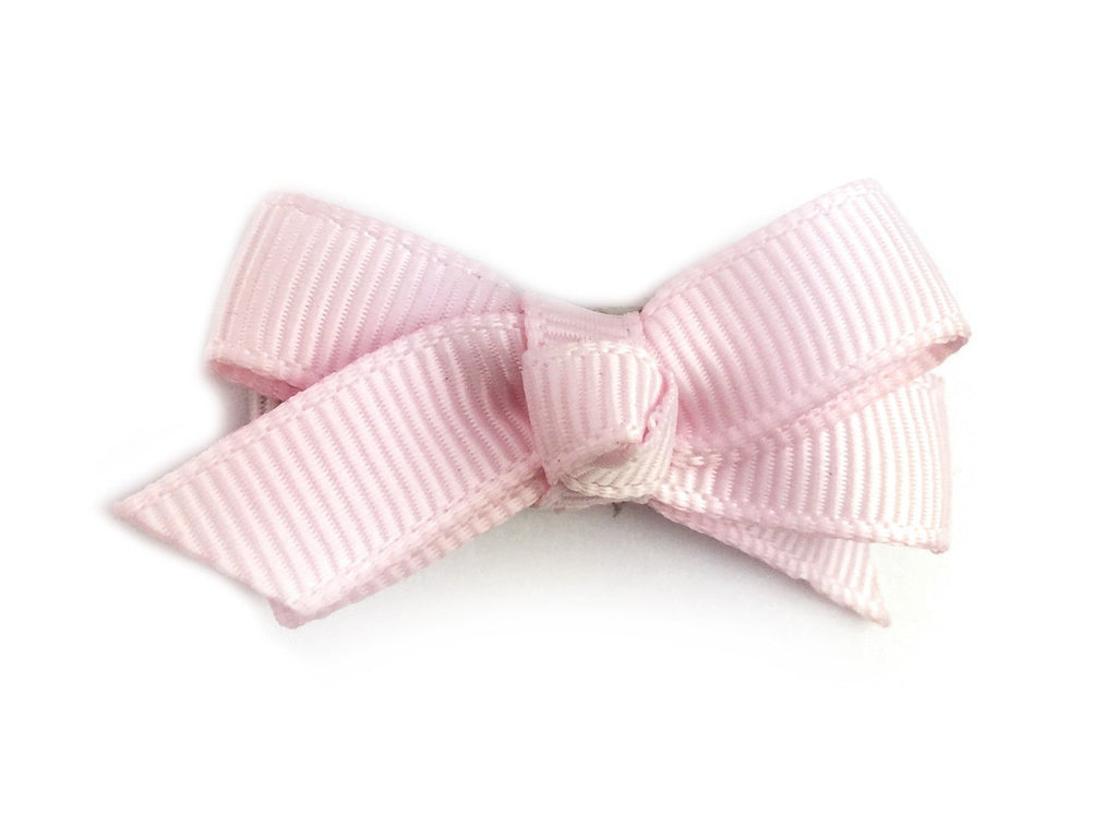 Small Snap Chelsea Boutique Bow - Single Hair Bow - Icy Pink - Baby Wisp
