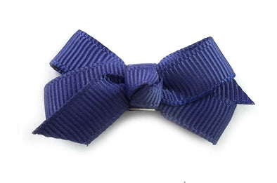 Small Snap Chelsea Boutique Bow - Single Hair Bow - Ink Blue - Baby Wisp
