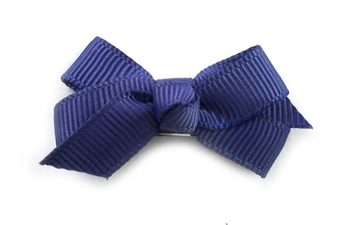 Small Snap Chelsea Boutique Bow - Single Hair Bow - Ink Blue