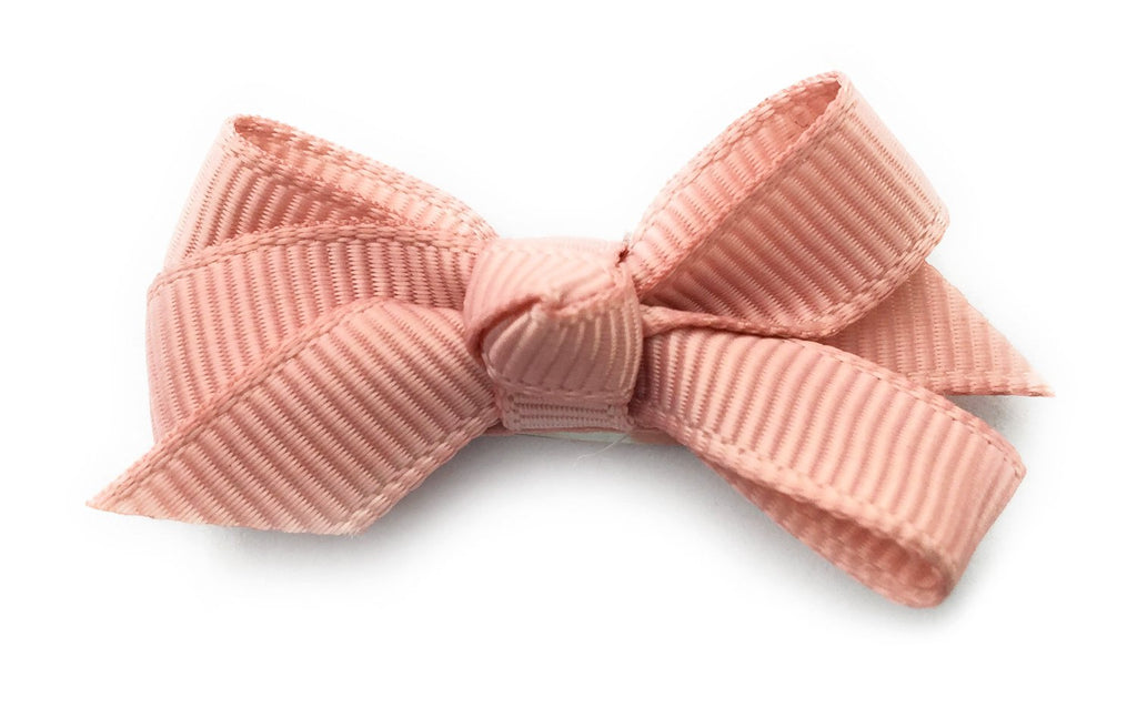Small Snap Chelsea Boutique Bow - Single Hair Bow - Rose Taupe - Baby Wisp