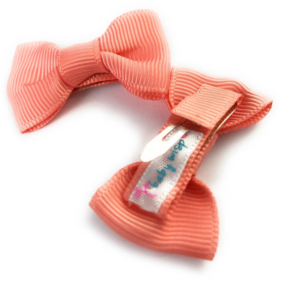 Small Snap Charlotte Bow - 2 Pack - Light Coral - Baby Wisp