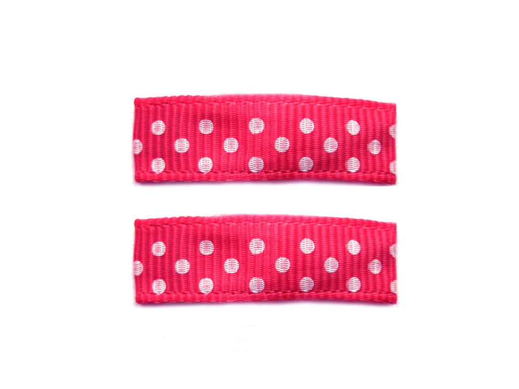 Little Girl Urban Polka Dots - Baby Wisp - azalea