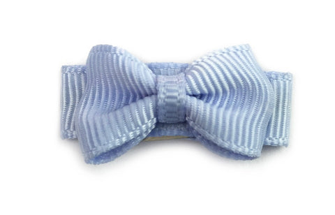 Grosgrain Tuxedo Bow Snap Clip - Single Hair Bow - Blue Bell
