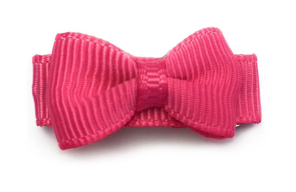 Grosgrain Tuxedo Bow Snap Clip - Single Hair Bow - Camelia Rose - Baby Wisp
