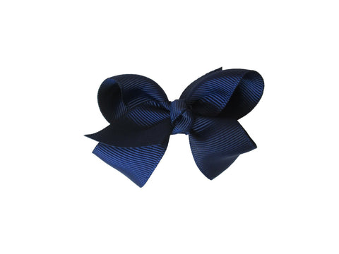 Small Snap Bowtastic Bow - Navy - Baby Wisp